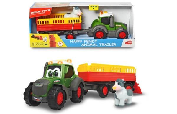 Happy Traktor Fendt i przyczepka ze zwierzatkami