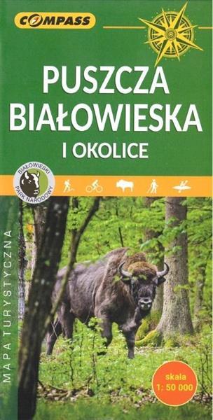 Mapa turystyczna - Puszcza Białowieska i okolice