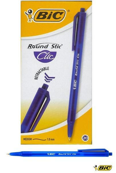 Długopis Round Stic Clic niebieski (20szt) BIC