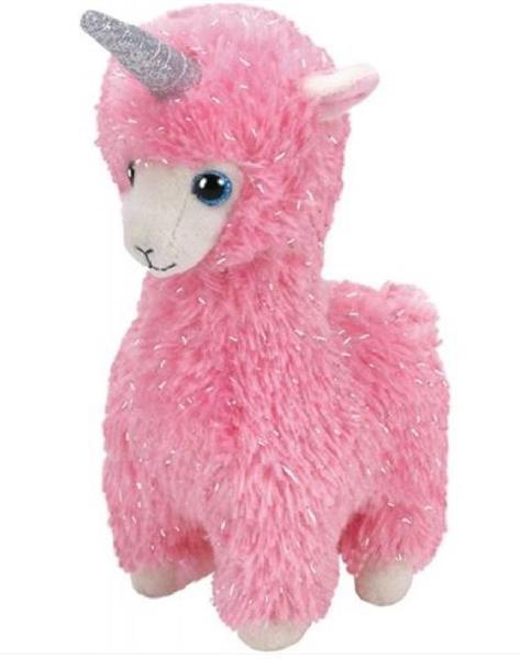 Beanie Boos - Różowa Lama 15 cm
