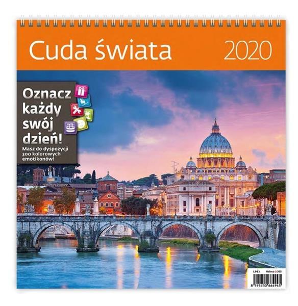 Kalendarz 2020 Cuda świata 30x30cm NARCISSUS