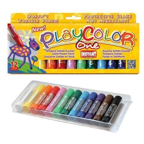 Farby w sztyfcie 12 kolorów PLAYCOLOR