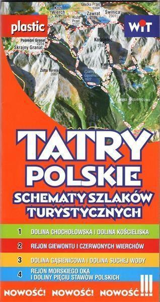 Schematy szlaków turystycznych. Tatry mapa