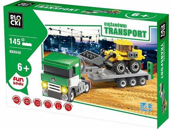 Klocki Blocki Transport Ciężarówki Laweta
