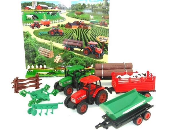Farma - 2 traktory + 3 przyczepy