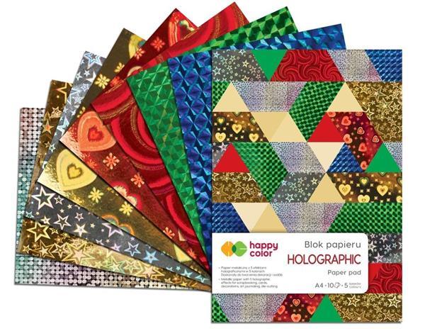 Blok A4/10K Holographic 70g HAPPY COLOR