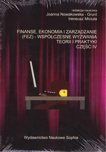 Finanse, ekonomia i zarządzanie (FEZ).. cz.4