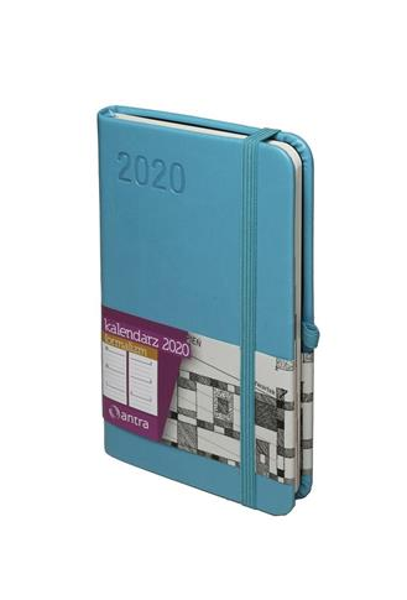 Kalendarz 2020 Formalizm A6 Turkusowy TDW ANTRA