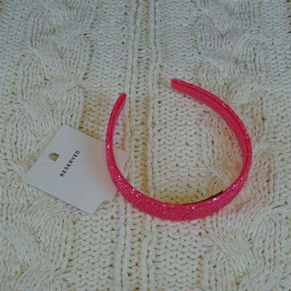 Opaska do włosów brokatowa różowa RESERVED-22316