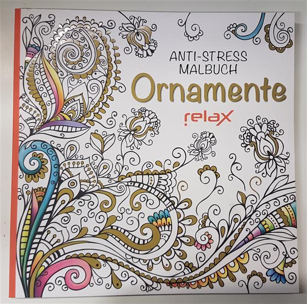 Kolorowanka antystresowa  ORNAMENTE RELAX-20043