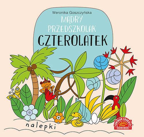 Mądry przedszkolak Czterolatek Książeczka z nalepk-28805