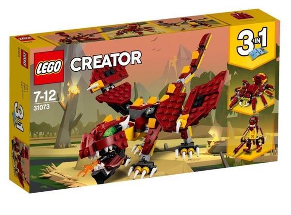 Lego CREATOR 31073 Mityczne stworzenia 3w1