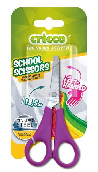 Nożyczki szkolne dla leworęcznych 13,5cm CRICCO
