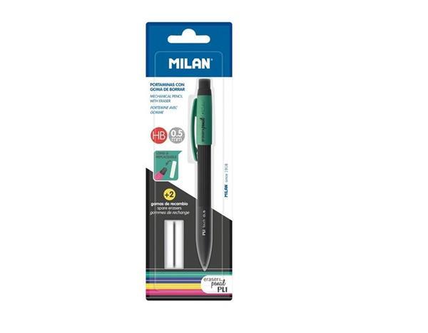 Ołówek mechaniczny PL1 HB 0,5mm + 2 gumki MILAN