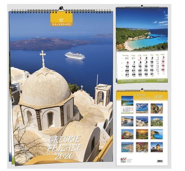 Kalendarz 2020 13 Plansz B3 - Greckie pejzaże