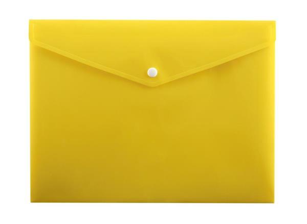 Koperta na zatrzask A4 PP-113 żółta PENMATE