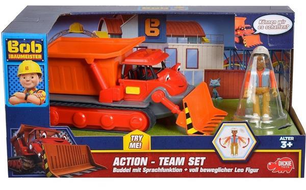 BOB Bob budowniczy Spychacz + figurka Leo