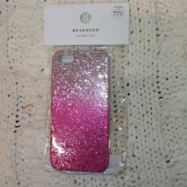 Markowe etiu iPhone 5,5S,SE  ombre różowe