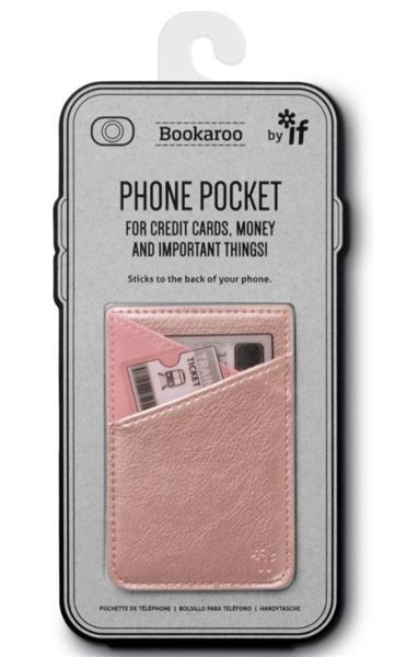Bookaroo Phone Pocket Portfel na telefon złoty róż