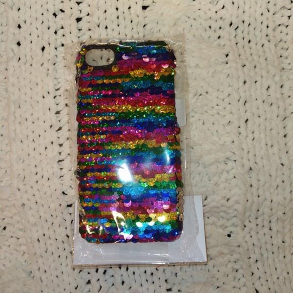 Markowe etui Reserved iPhone 6,7,8 kolorowe cekiny