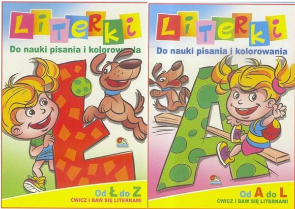 (158) Literki. Do nauki pisania i kolorowania MIX