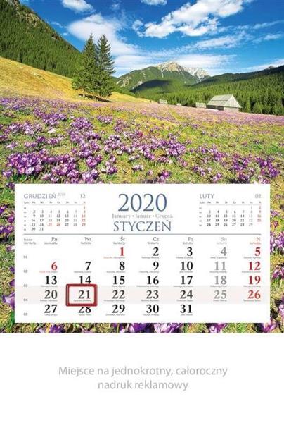 Kalendarz 2020 Jednodzielny Góry KM01