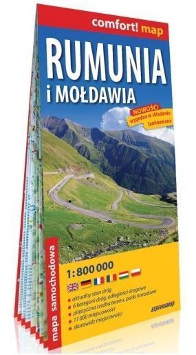 Comfort! map Rumunia i Mołdawia 1: 800 000 mapa