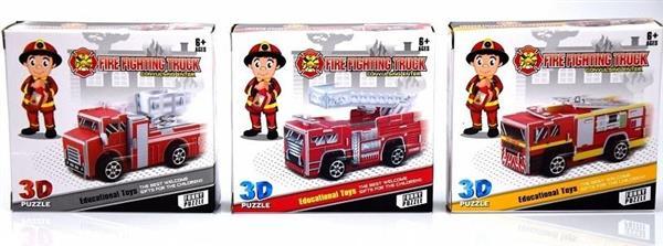 Straż pożarna model do złożenia 3D - pullback