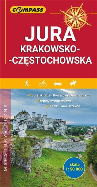 Mapa tur. - Jura Krakowsko- Częstochowska