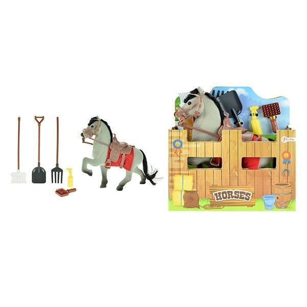 Koń flokowany z akcesoriami