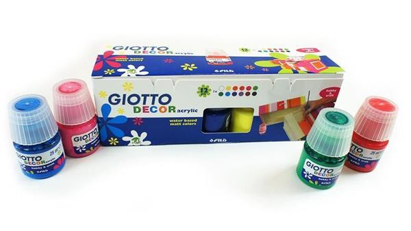 Farby akrylowe Decor acrylic 12 kolorów GIOTTO