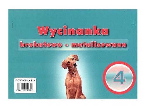 Wycinanka A4 brokatowo - metalizowana 4