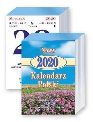 Kalendarz zdzierak 2020 -Nowy kalendarz Polski KL5