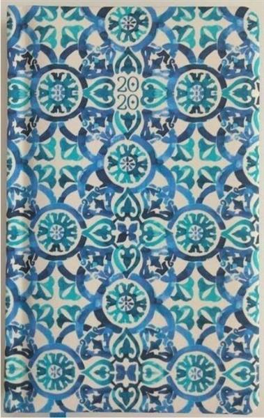 Kalendarz tygodniowy 2020 Niebieska tapeta ALBI