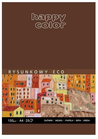 Blok rysunkowy ECO A4/25K 150g Happy Color