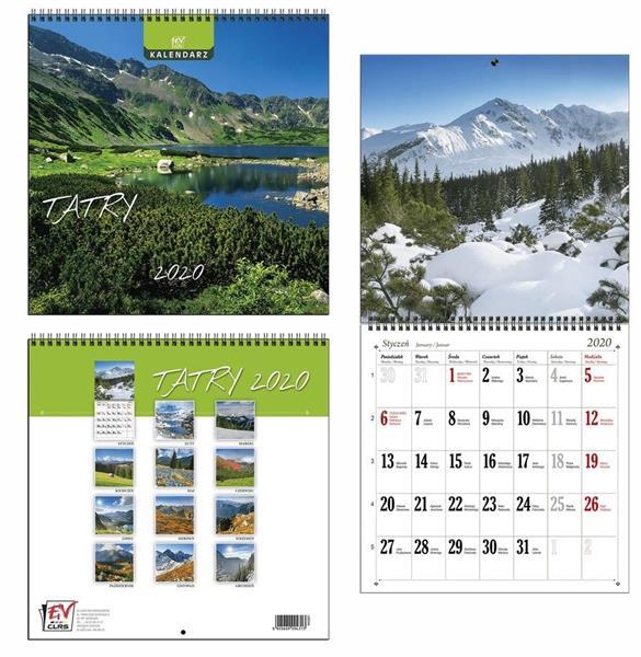 Kalendarz 2020 13 Planszowy Tatry EV-CORP