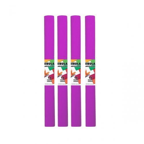 Bibuła marszczona 12 różowa ciemna (10szt)