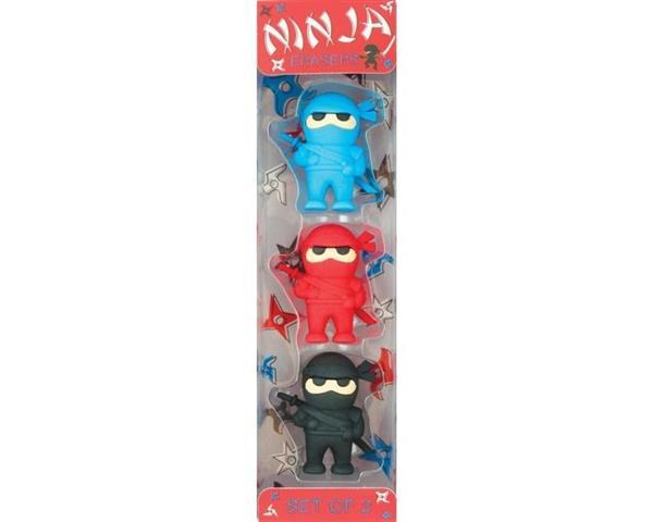 Gumki do ścierania Ninja 3 sztuki