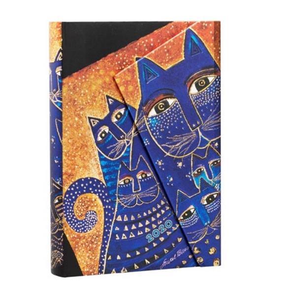 Kalendarz książkowy mini 2020 12M hor. Cats